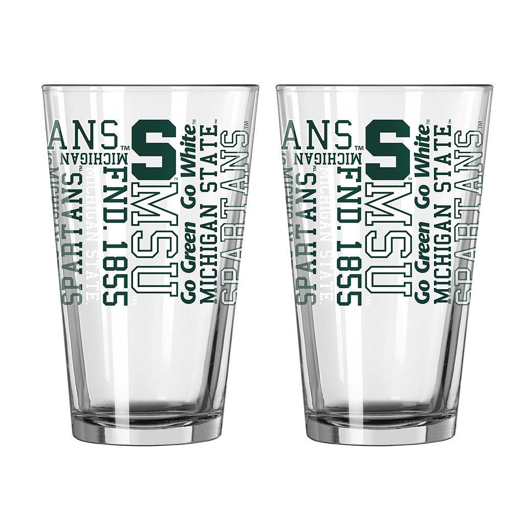 Boelter Michigan State Spartans Spirit Pint Glass Set