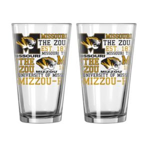 Boelter Missouri Tigers Spirit Pint Glass Set