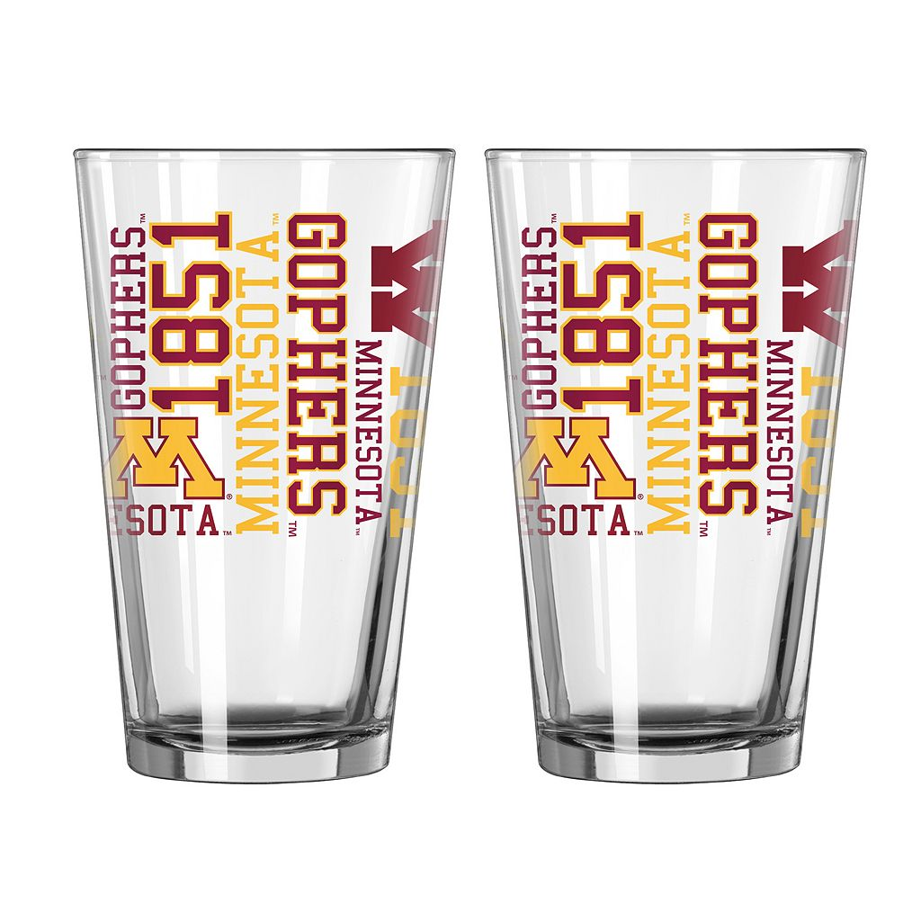 Boelter Minnesota Golden Gophers Spirit Pint Glass Set
