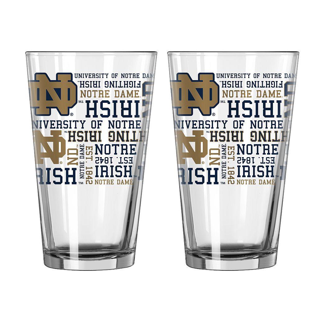 Boelter Notre Dame Fighting Irish Spirit Pint Glass Set