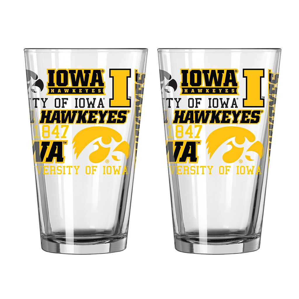 Boelter Iowa Hawkeyes Spirit Pint Glass Set