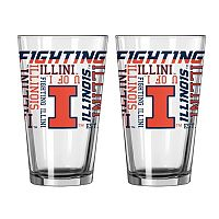 Boelter Illinois Fighting Illini Spirit Pint Glass Set
