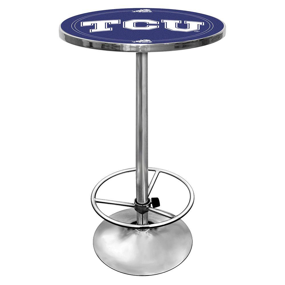 TCU Horned Frogs Chrome Pub Table