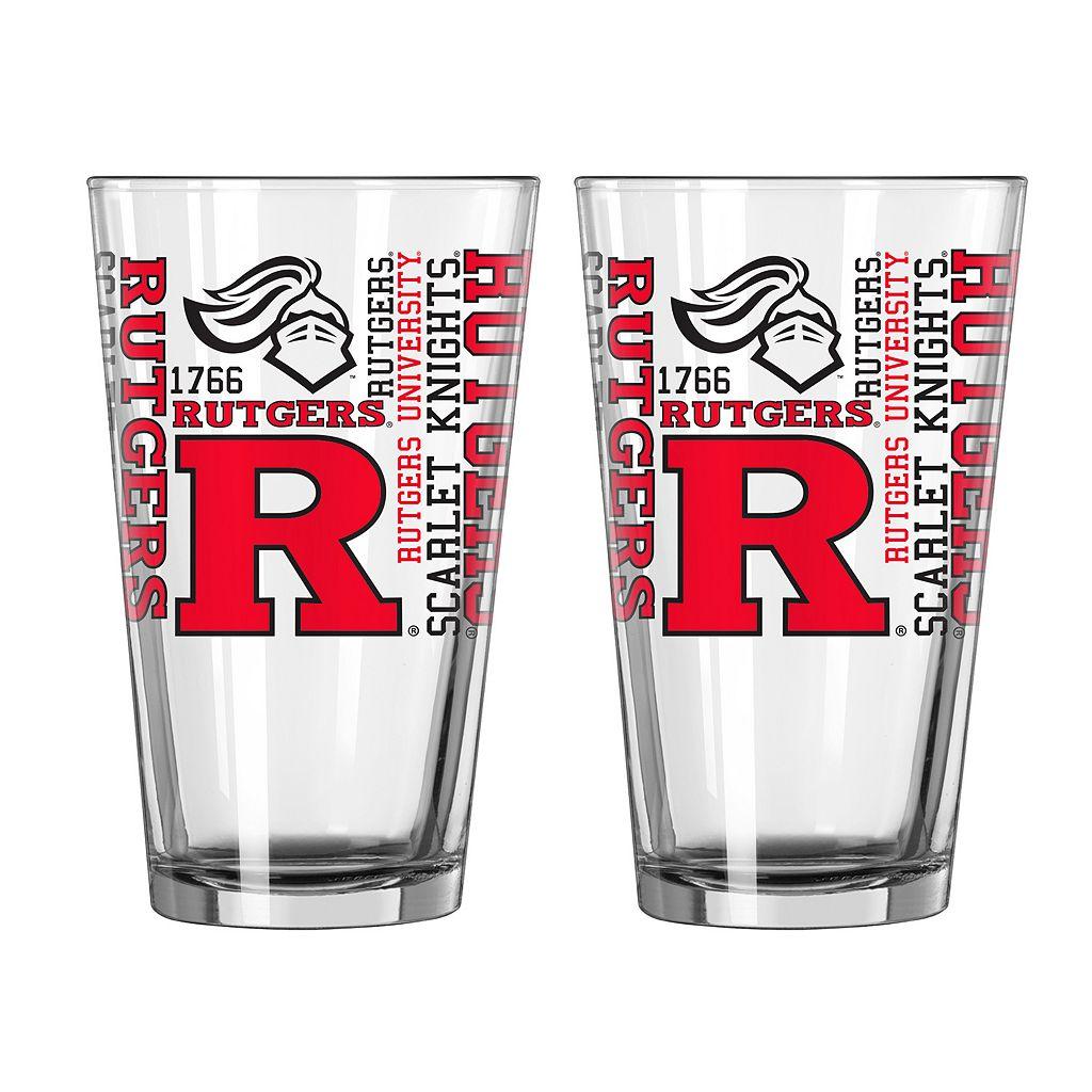 Boelter Rutgers Scarlet Knights Spirit Pint Glass Set