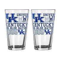 Boelter Kentucky Wildcats Spirit Pint Glass Set