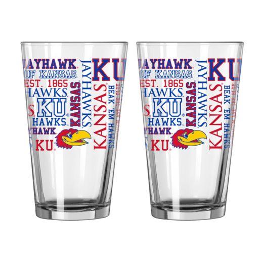 Boelter Kansas Jayhawks Spirit Pint Glass Set