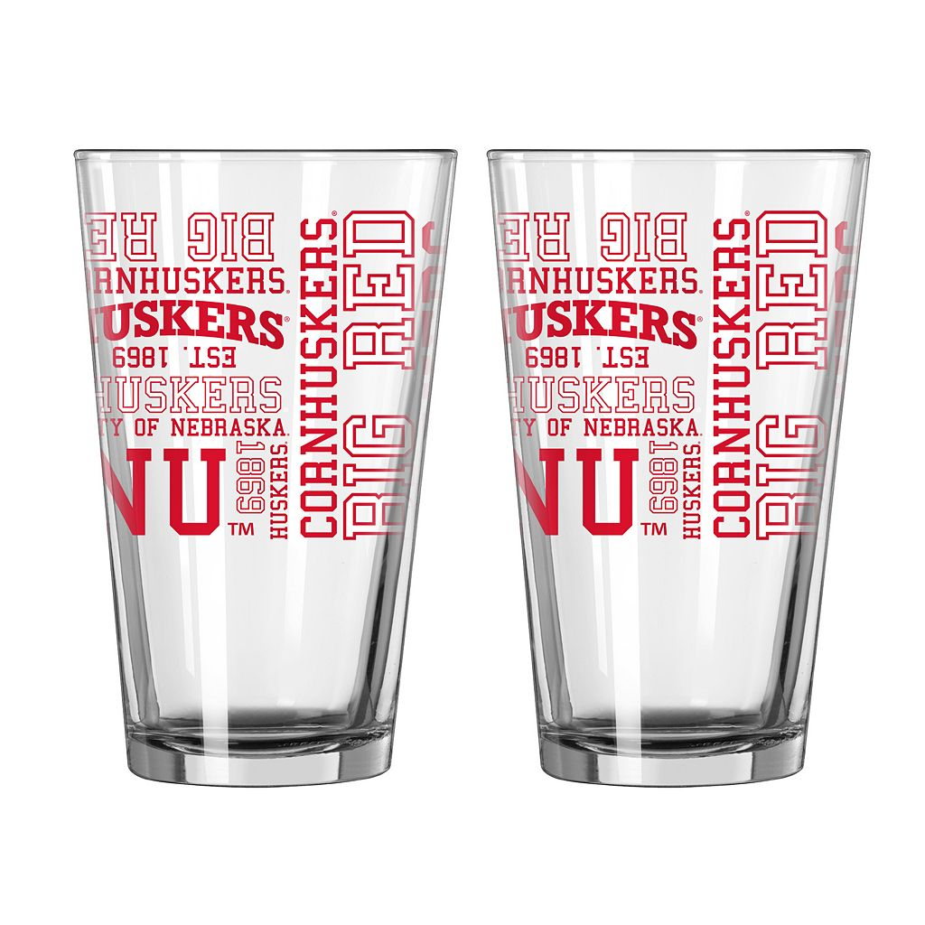Boelter Brands Nebraska Cornhuskers 2-Pack Pint Glass Set