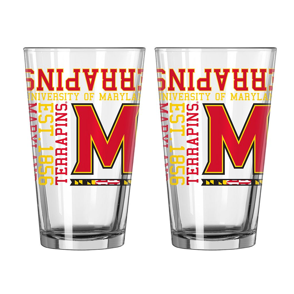 Boelter Maryland Terrapins Spirit Pint Glass Set