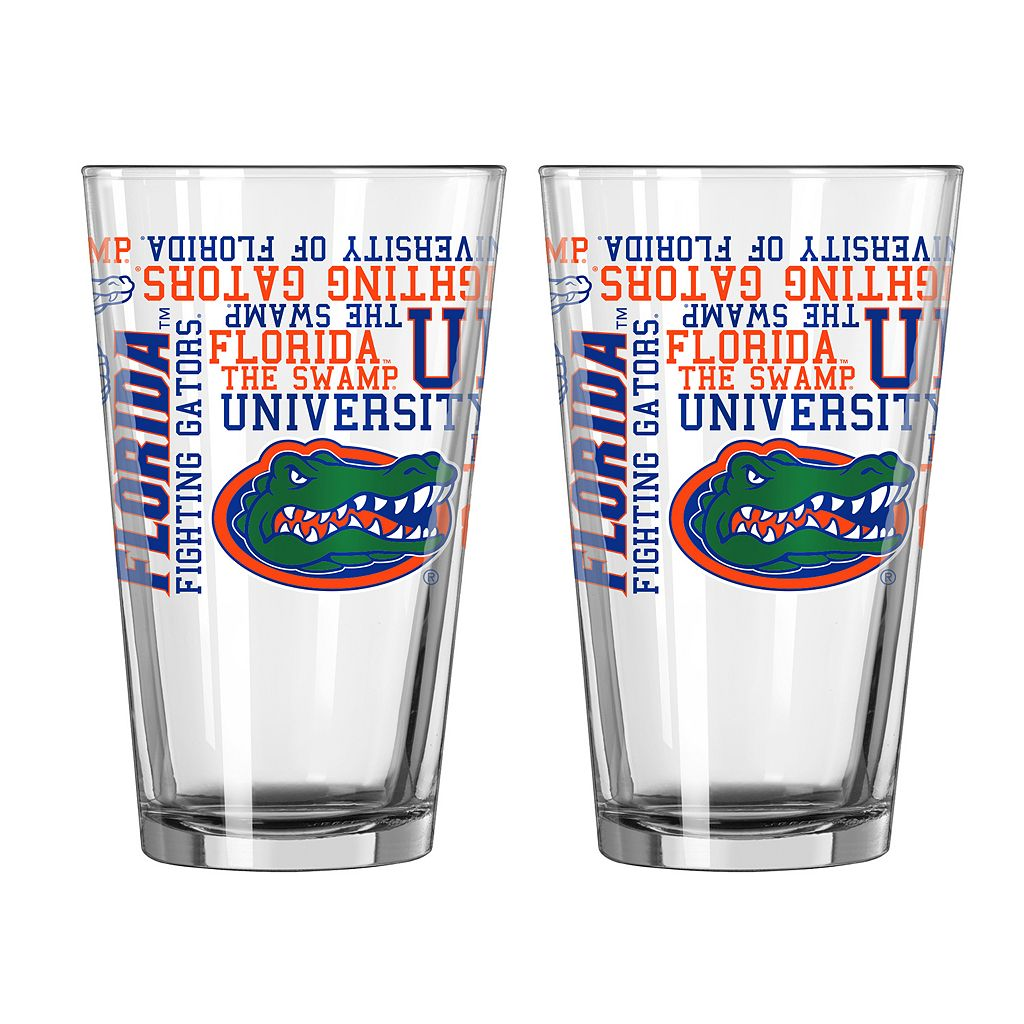 Boelter Florida Gators Spirit Pint Glass Set