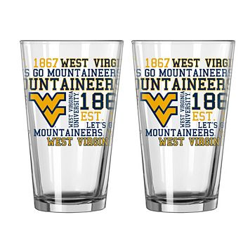 Boelter West Virginia Mountaineers Spirit Pint Glass Set