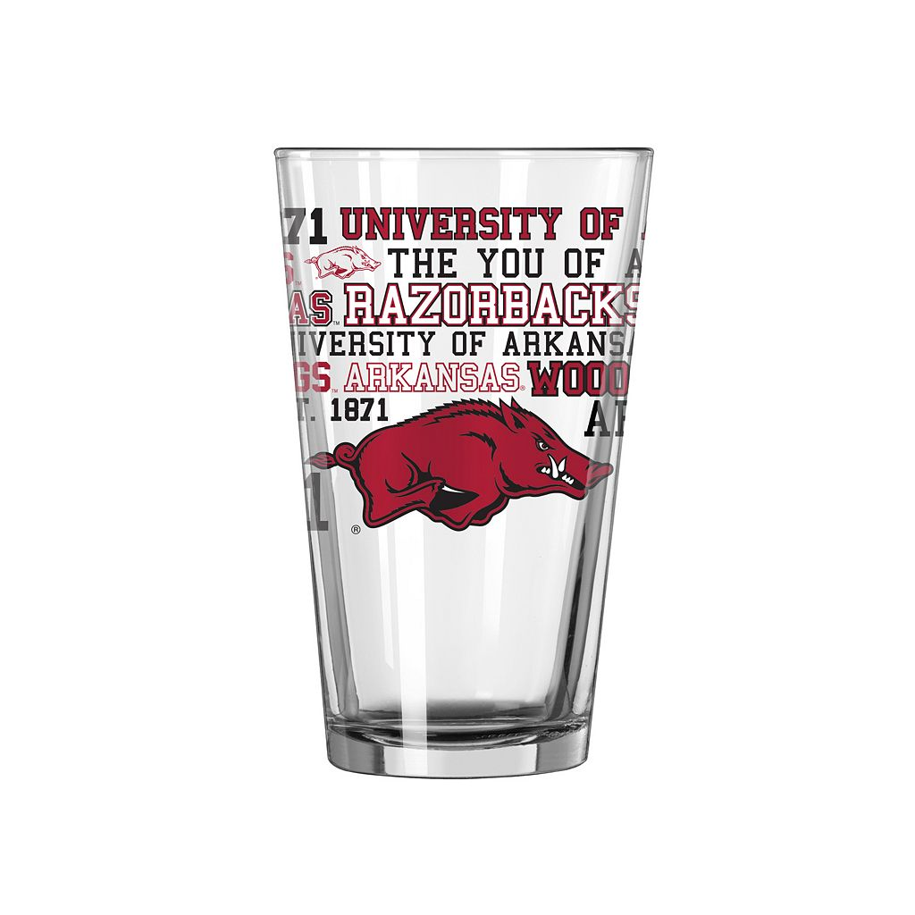 Arkansas Razorbacks 2-piece Pint Glass Set