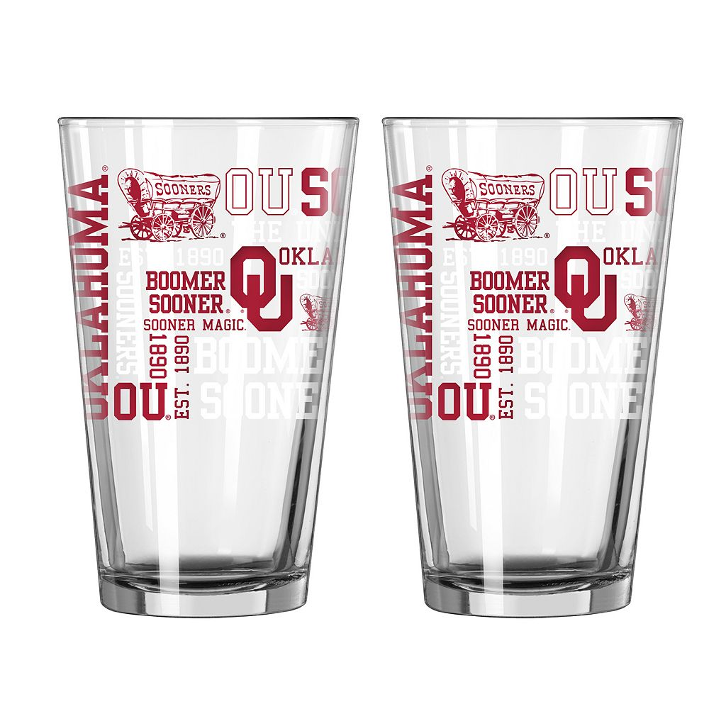 Boelter Oklahoma Sooners Spirit Pint Glass Set