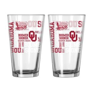 Boelter Oklahoma Sooners Spirit Pint Glass Set