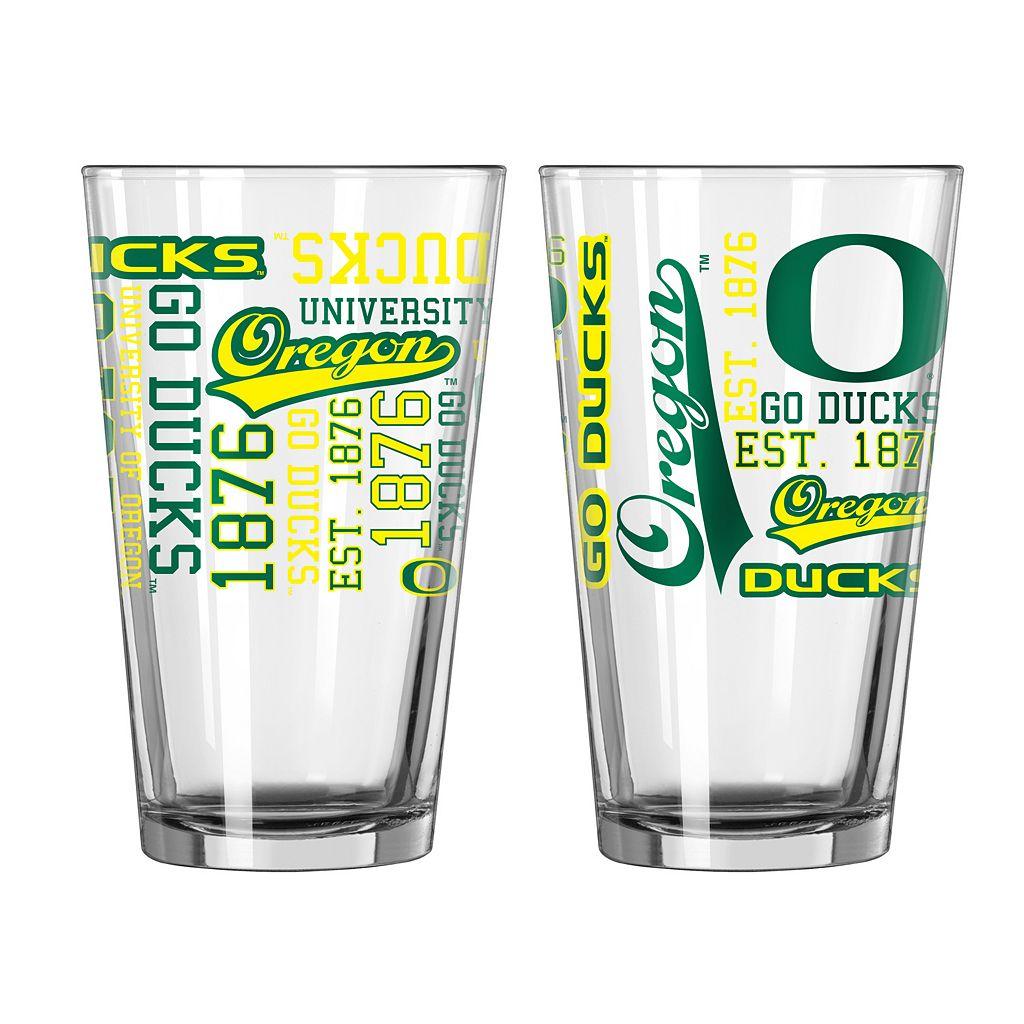 Oregon Ducks 2-piece Pint Glass Set