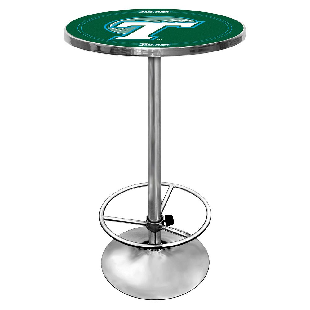 Tulane Green Wave Chrome Pub Table