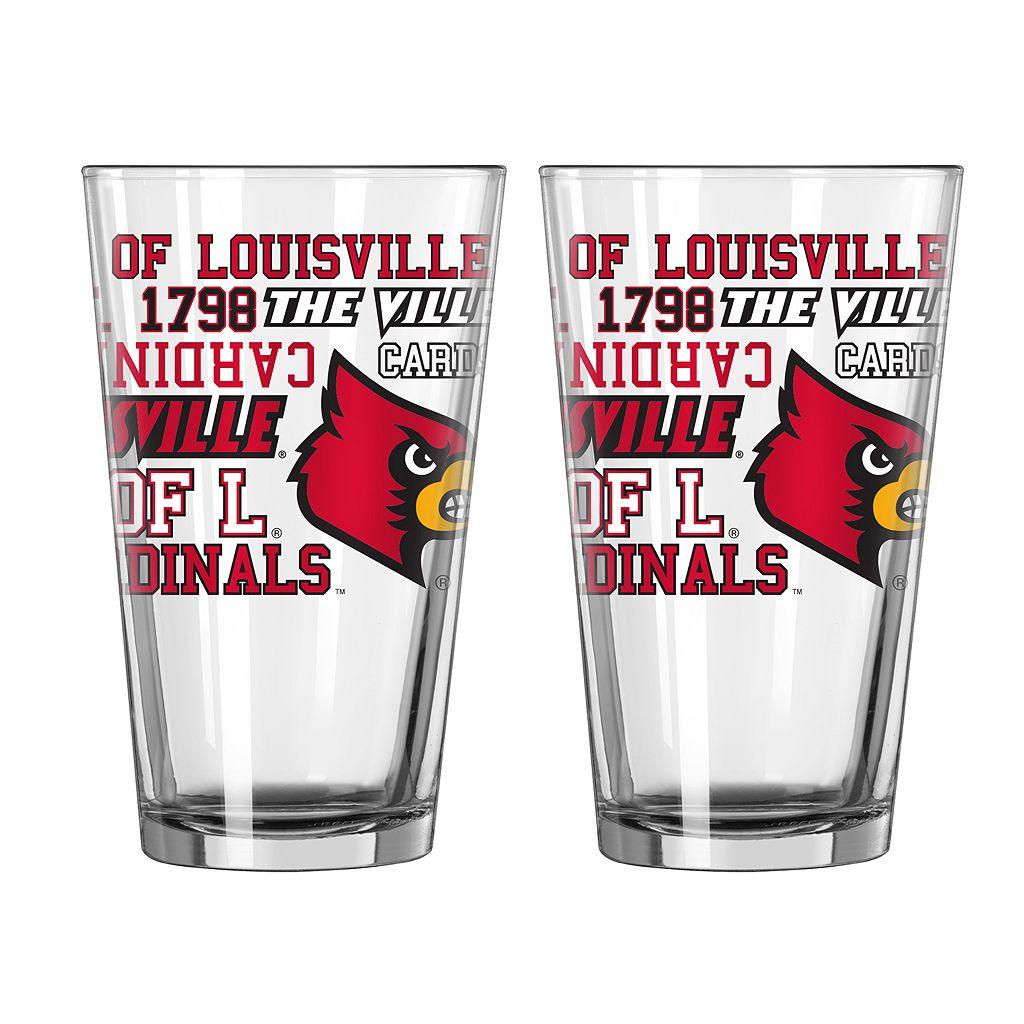 Boelter Louisville Cardinals Spirit Pint Glass Set