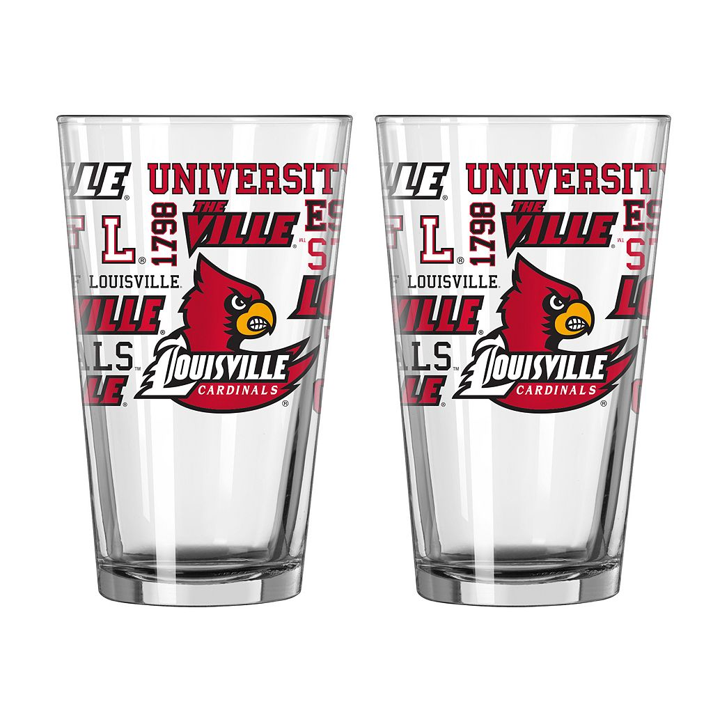 Boelter Louisville Cardinals Spirit Pint Glass Set