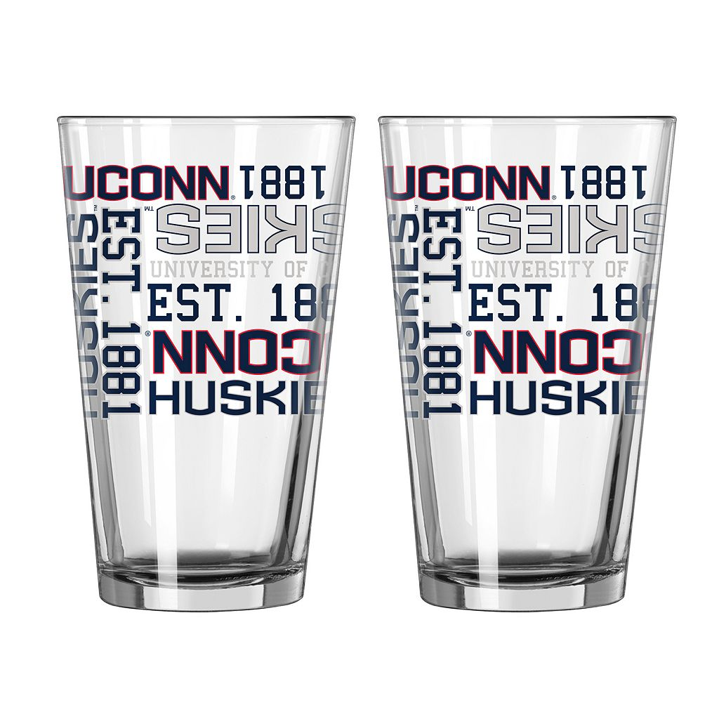 Boelter UConn Huskies Spirit Pint Glass Set