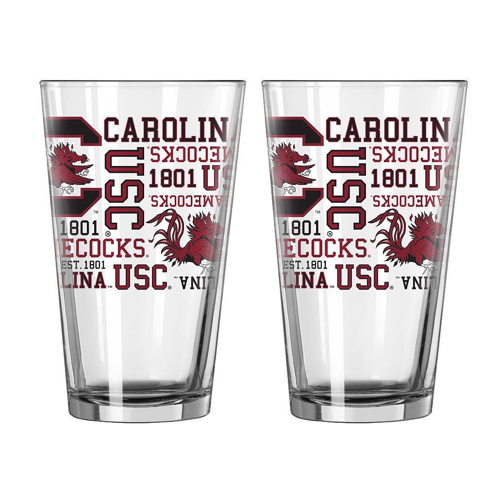 Boelter South Carolina Gamecocks Spirit Pint Glass Set