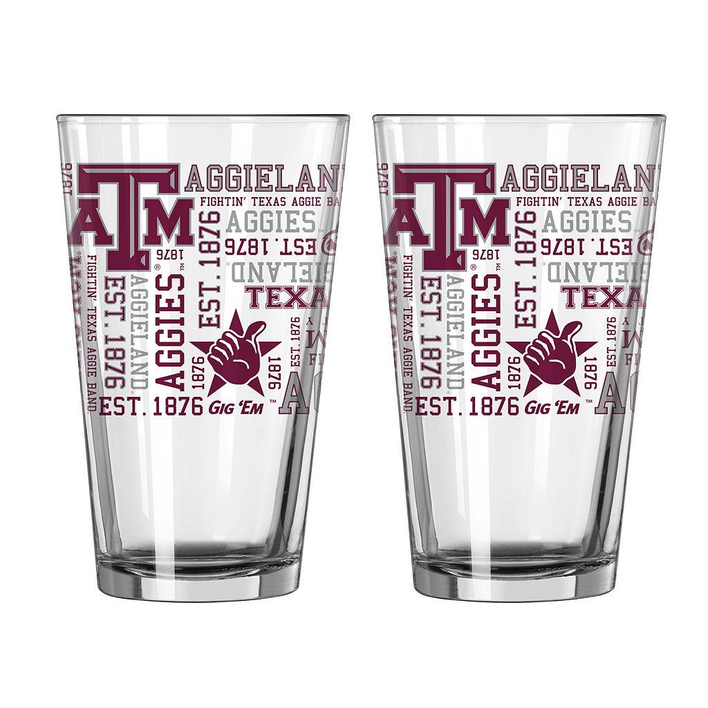 Boelter Texas A&M Aggies Spirit Pint Glass Set