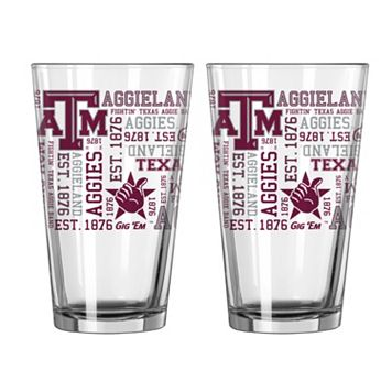 Boelter Texas A&M Aggies Spirit Pint Glass Set
