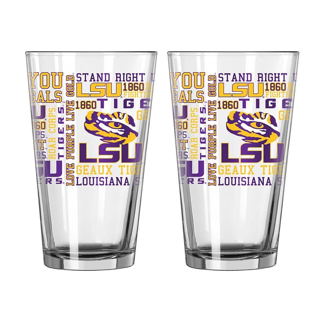 Boelter LSU Tigers Spirit Pint Glass Set