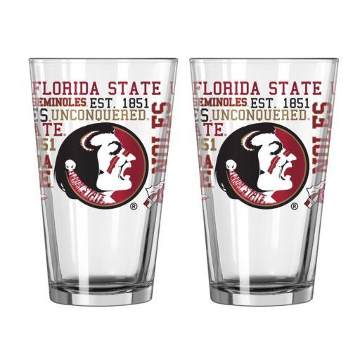 Boelter Florida State Seminoles Spirit Pint Glass Set