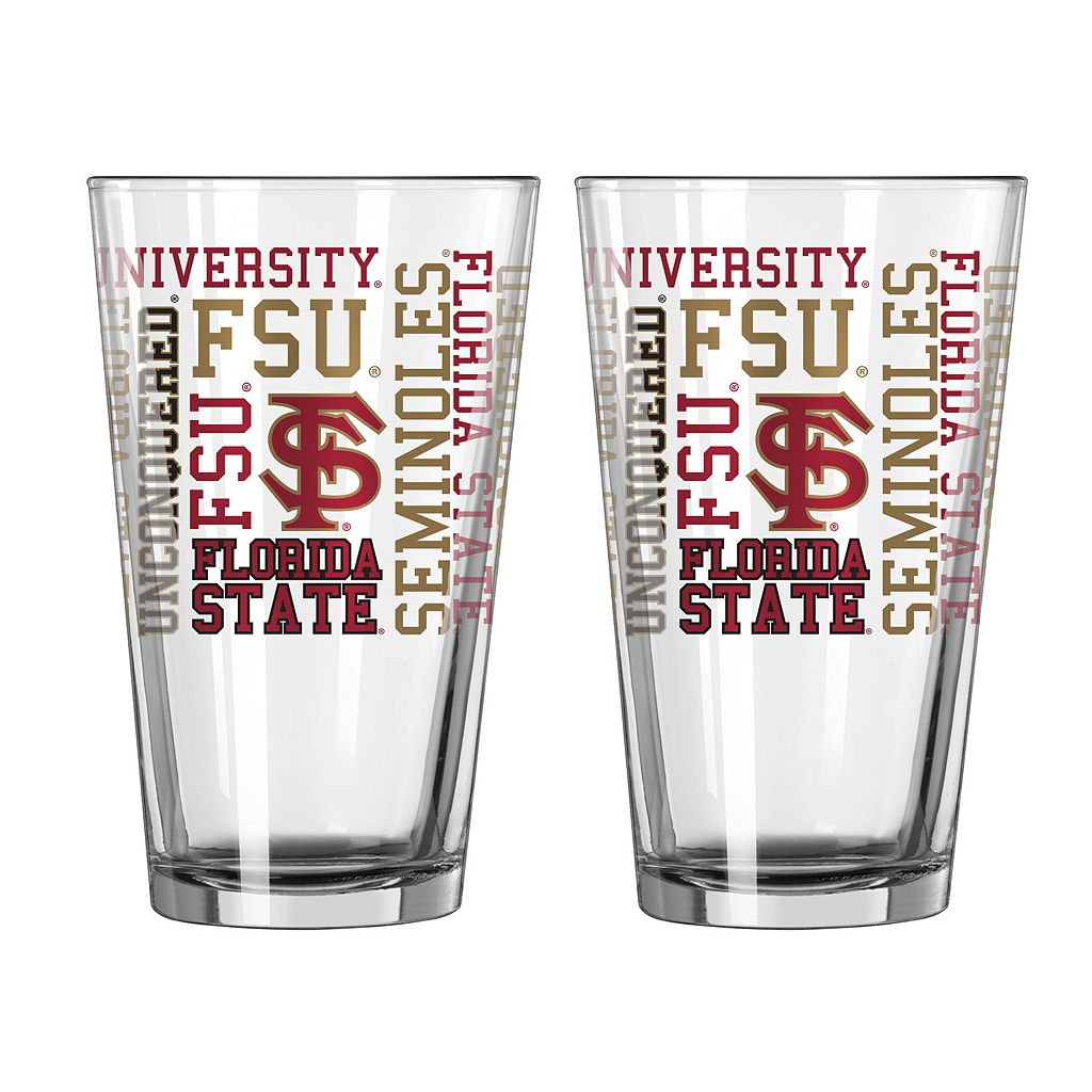 Boelter Florida State Seminoles Spirit Pint Glass Set