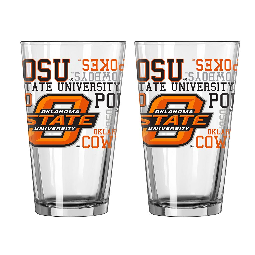 Boelter Oklahoma State Cowboys Spirit Pint Glass Set