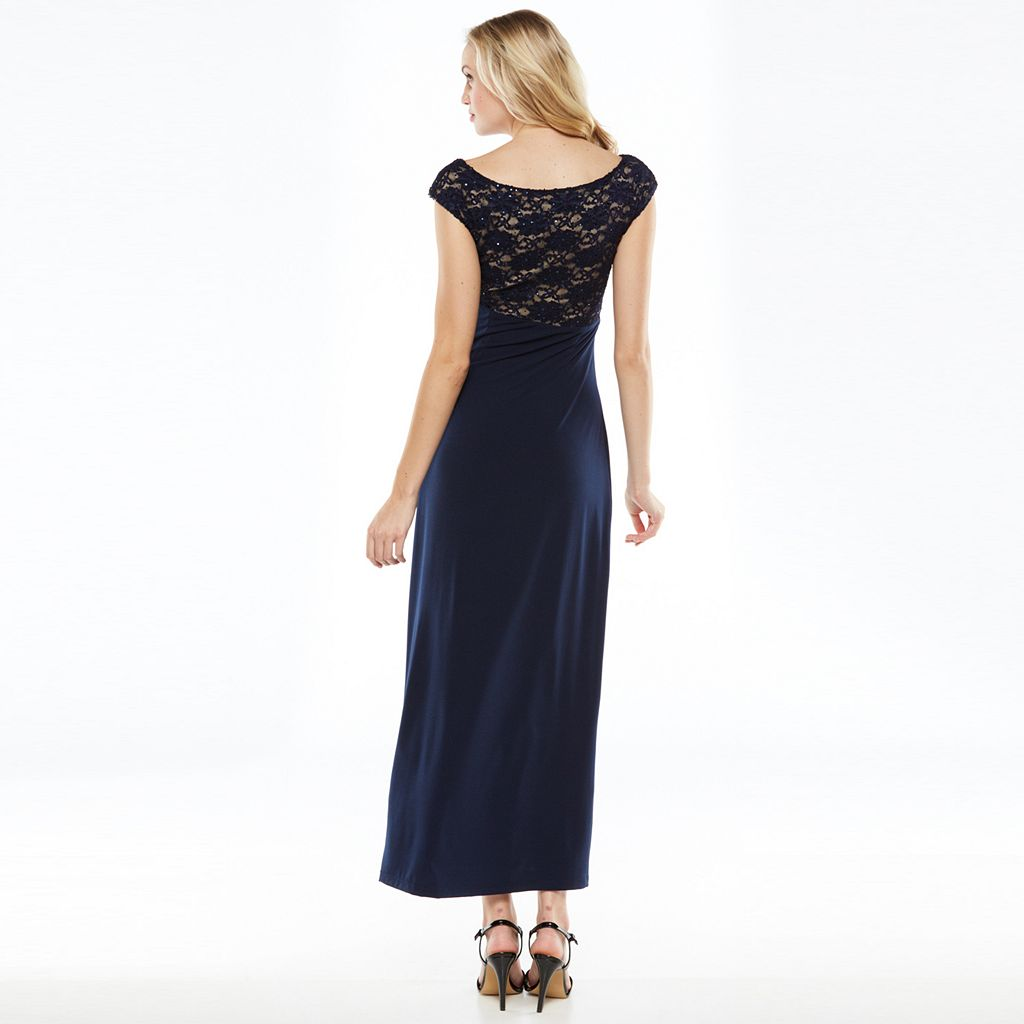 Connected Apparel Gathered Full-Length Dress - Women's