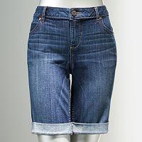 Simply Vera Vera Wang Cuffed Midi Jean Shorts - Women's