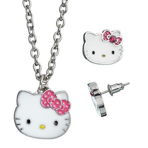c2e1819e6 0 item(s), $0.00. Hello Kitty® Necklace & Stud Earring Set ...