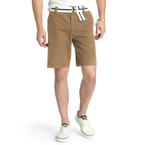 Men's IZOD Saltwater Classic-Fit Solid Flat-Front Shorts
