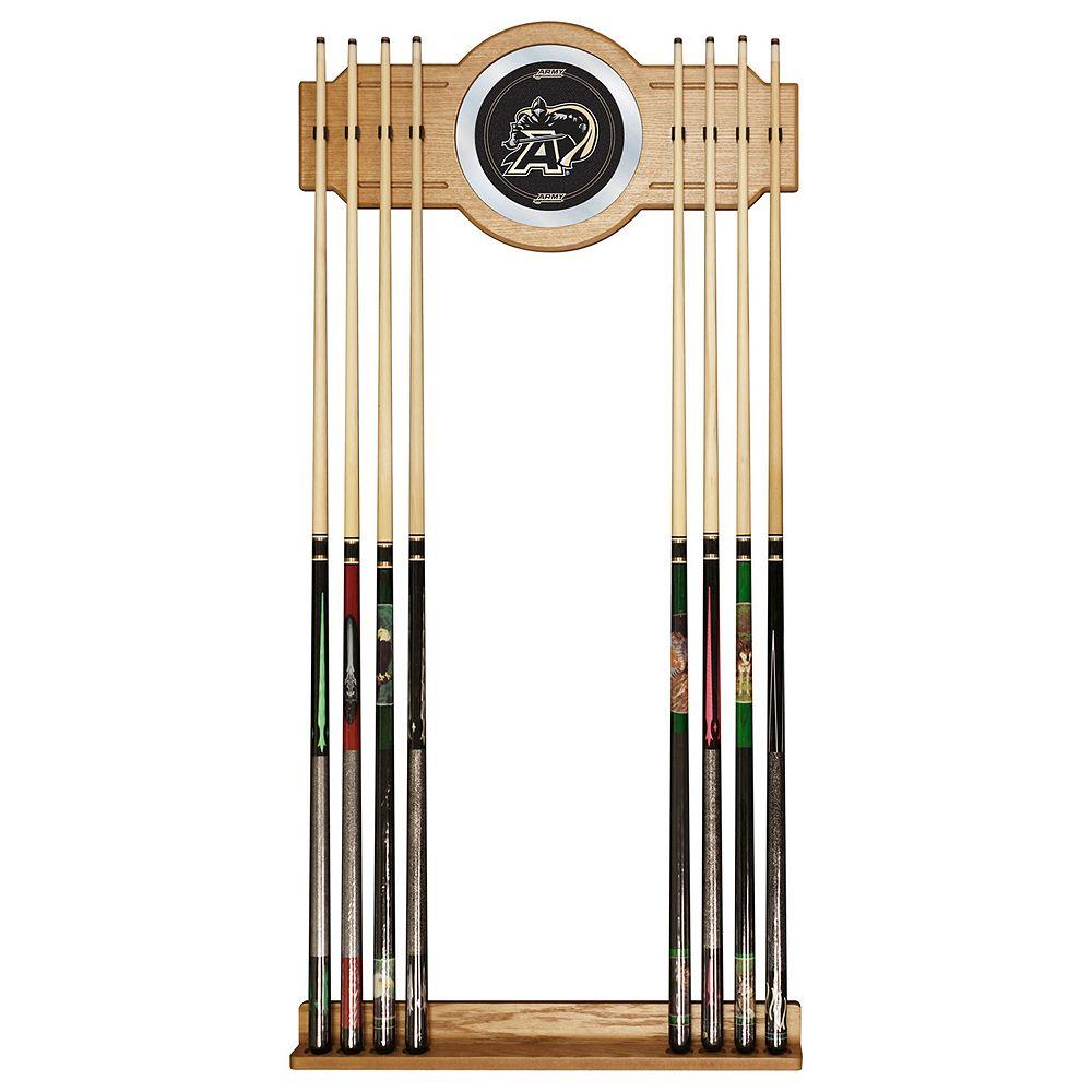 Army Black Knights Billiard Cue Rack with Mirror