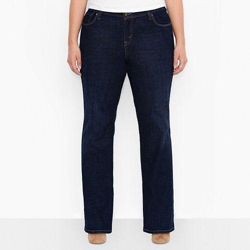 de57160a60355 Plus Size Levi s 580 Curvy Bootcut Jeans