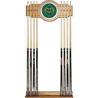 Colorado State Rams Billiard Cue Rack with Mirror