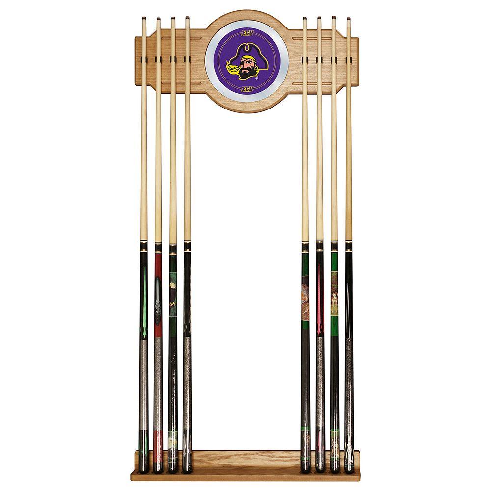 East Carolina Pirates Billiard Cue Rack with Mirror