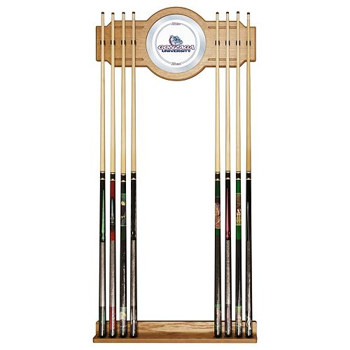 Gonzaga Bulldogs Billiard Cue Rack with Mirror