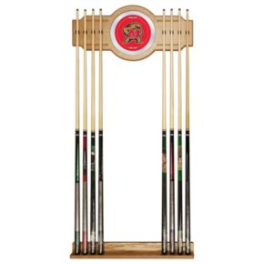 Maryland Terrapins Billiard Cue Rack with Mirror