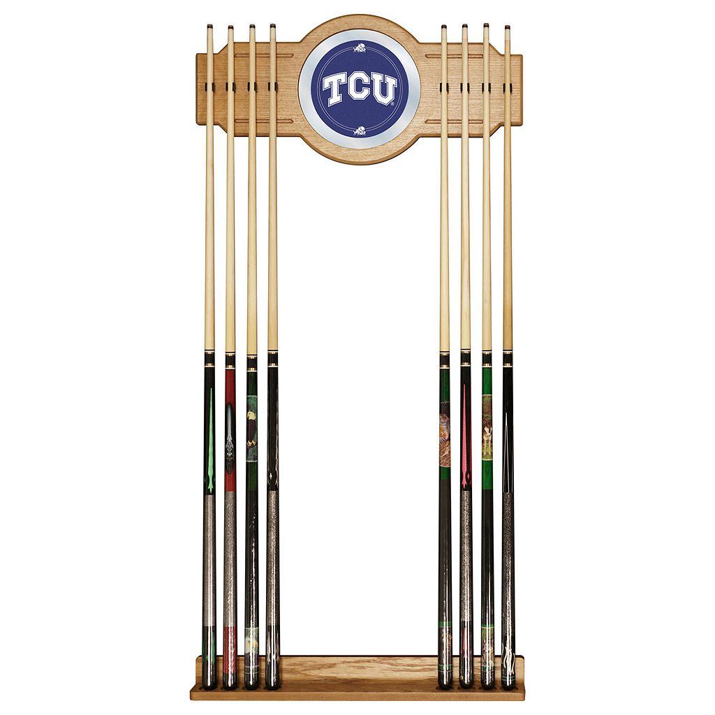 TCU Horned Frogs Billiard Cue Rack with Mirror