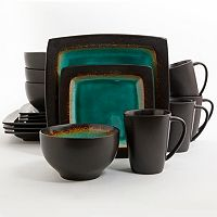 Gibson Elite Ocean Paradise 16 pc Square Dinnerware Set