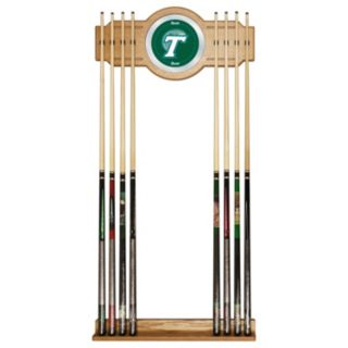Tulane Green Wave Billiard Cue Rack with Mirror