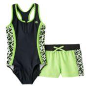 ZeroXposur Animal One-Piece Swimsuit & Cover-Up Shorts Set - Girls 7-16