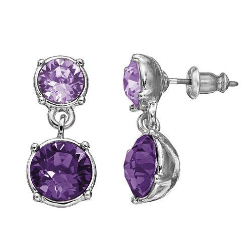 Dana Buchman Drop Earrings - Made with Swarovski Crystals