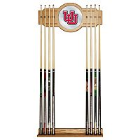 Utah Utes Billiard Cue Rack with Mirror