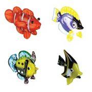 Looking Glass 4 pkFish Mini Figurines