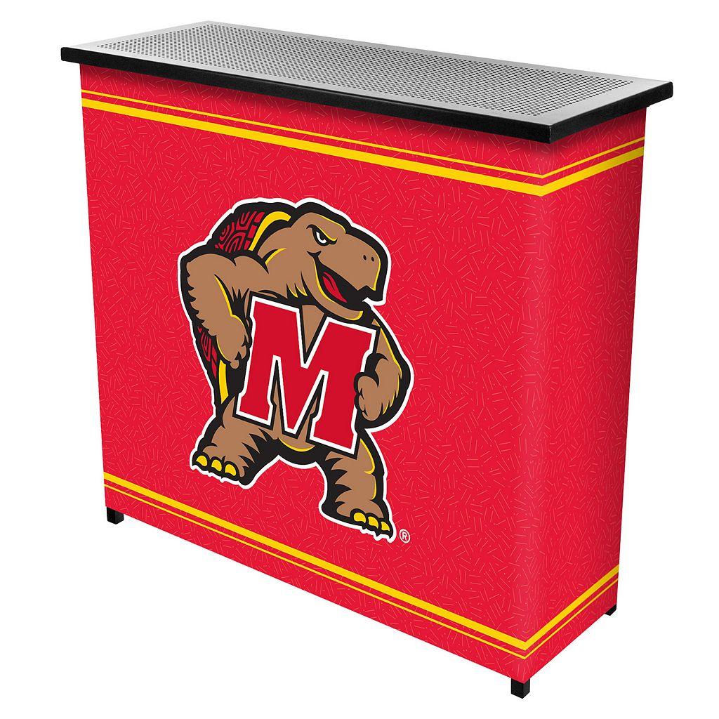 Maryland Terrapins 2-Shelf Portable Bar with Case