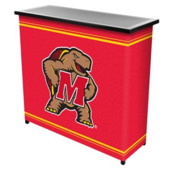 Maryland Terrapins 2-Shelf Portable Bar with Case