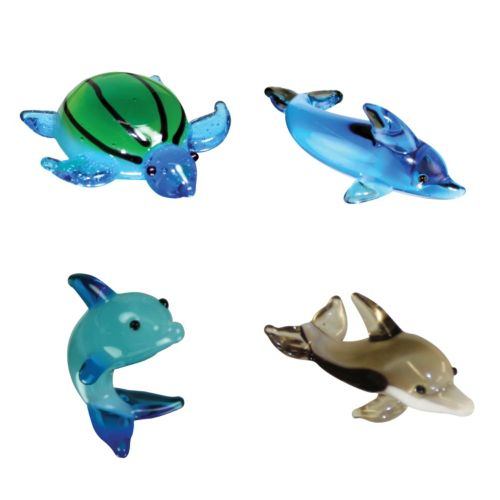 Looking Glass 4-pk. Sea Turtle and Dolphin Mini Figurines