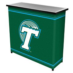 Tulane Green Wave 2-Shelf Portable Bar with Case